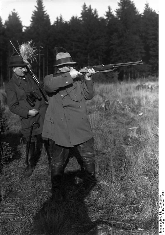 Hermann Göring 1934-ben vadászaton
