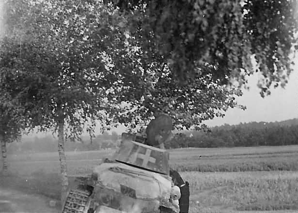 Kilőtt Panzer 38(t) Lengyelországban