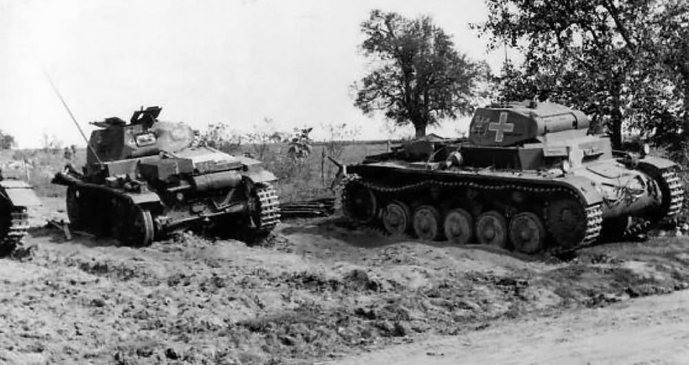 Kilőtt Panzerkampfwagen II Ausf. C-k