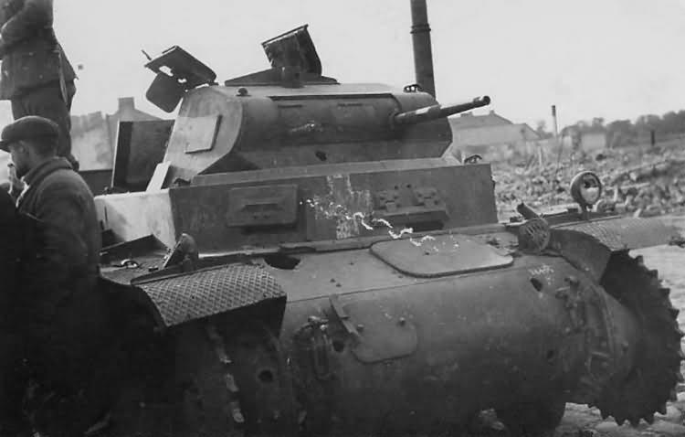 Kilőtt Panzerkampfwagen II