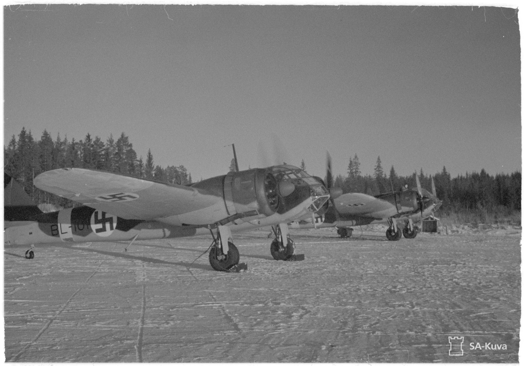 Finn Bristol Blenheim könnyűbombázók 1943-ban