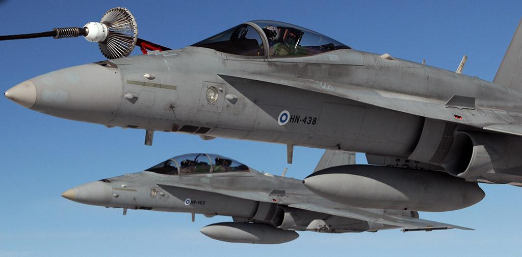Finn F/A-18 vadászgépek