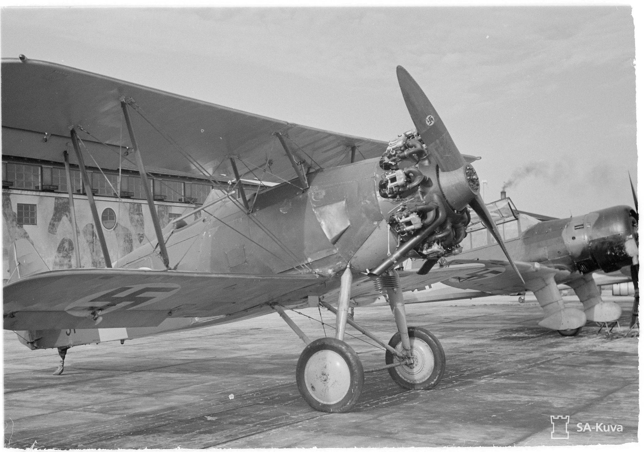 Finn Svenska Aero SA-14 Jaktfalken vadászgép.