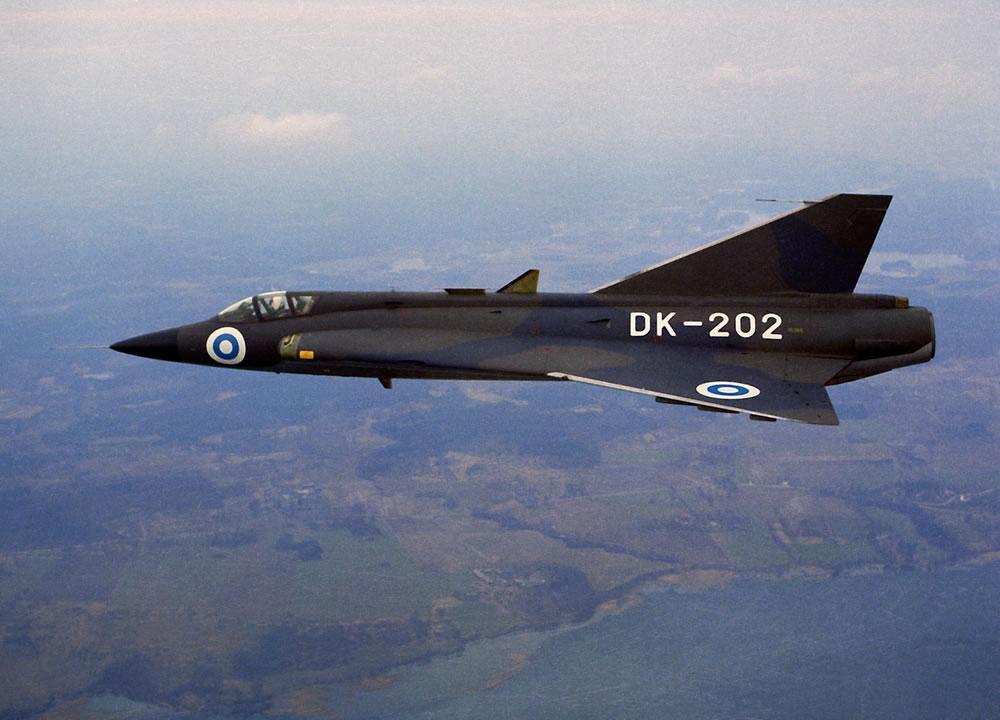 Finn Saab J35 Draken vadászgép