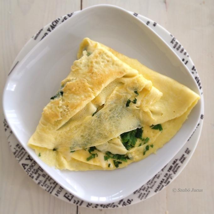 az omlett 5 hozzávalóból