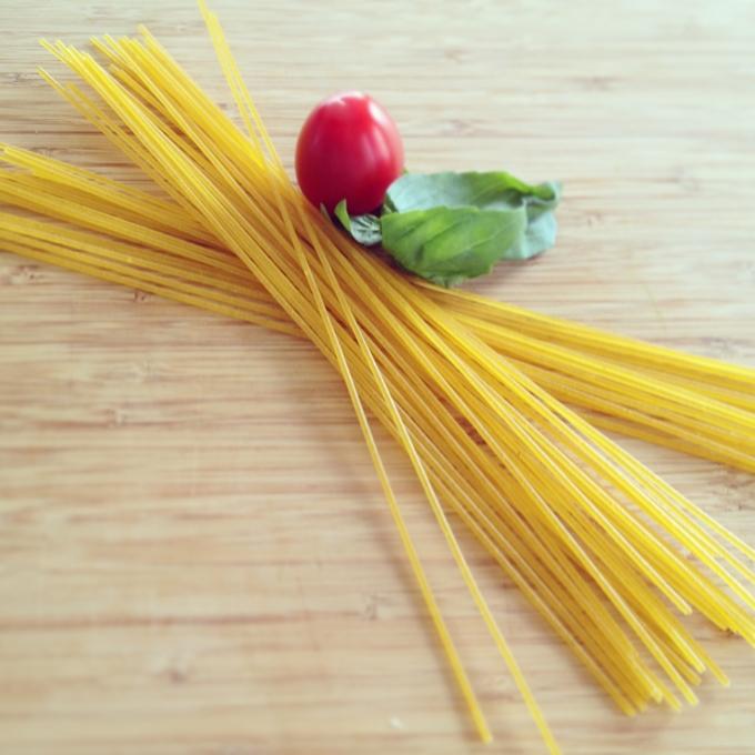 Az 5. hozzávaló, a spagetti.