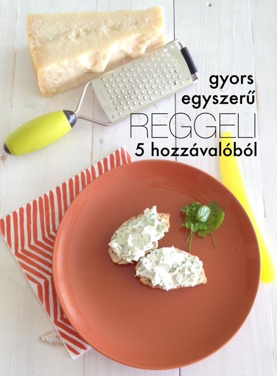 Zöldfűszeres sajtkrém5 hozzávalóból