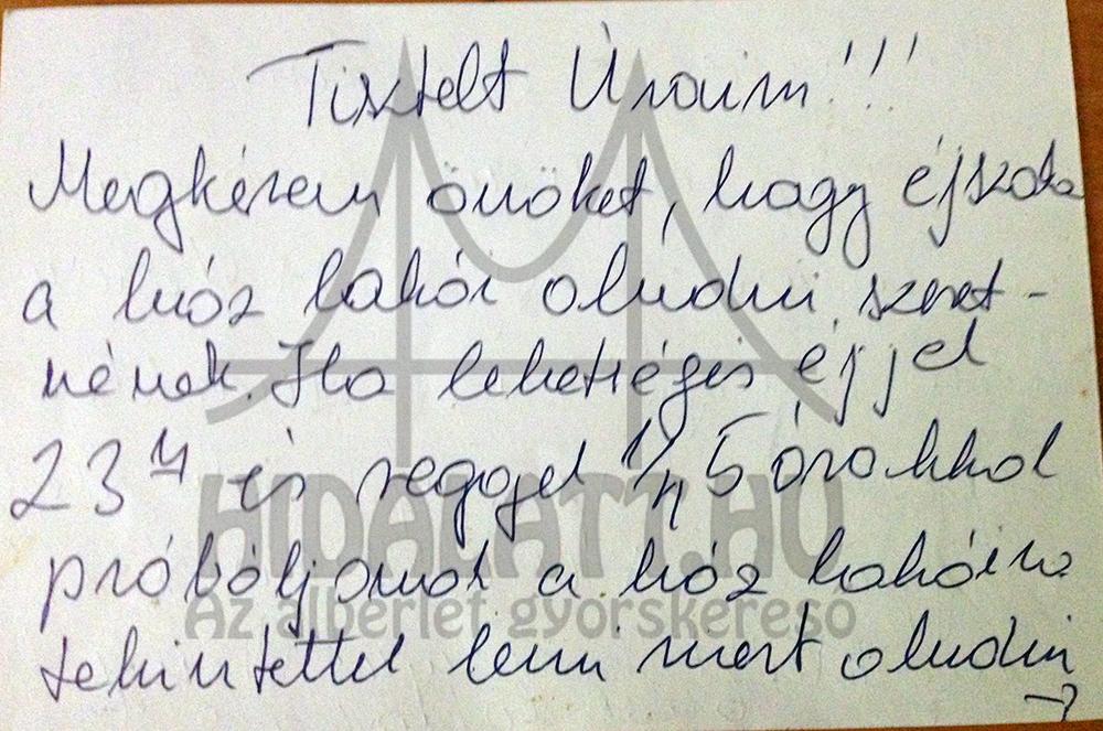 """Jó szomszédi iszony: """"szerelmes levél"""" a kedvenc alsó szomszédunktól"""