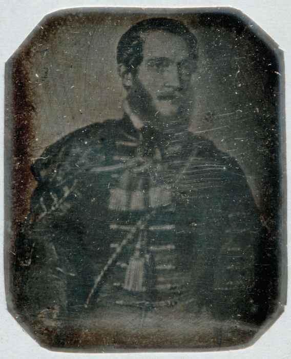 Dagerrotip repro Baraás Miklós 1847-es litojáról