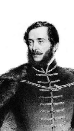 August Prinzhoffer Kossuth Lajost ábrázoló                litográfiája