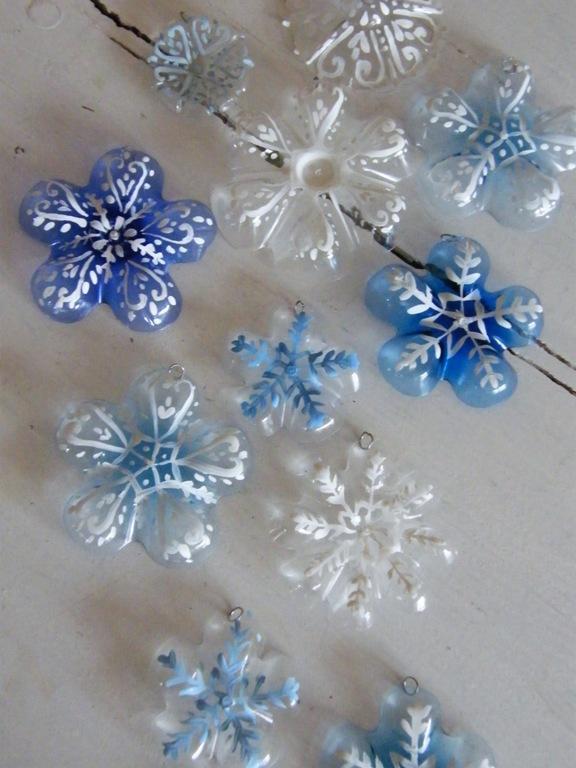 Поделки из снежинок к новому году