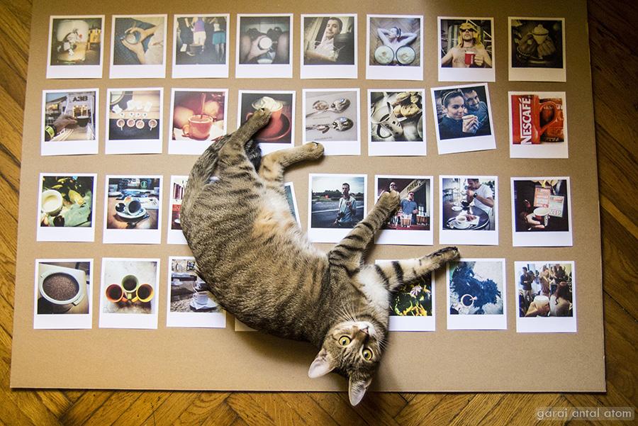 Instagram kávéim a falon - örömittas kiállításos bejegyzés