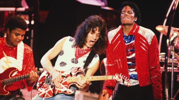 Michael Jackson & Eddie Van Halen - Beat it (Live, 1984)