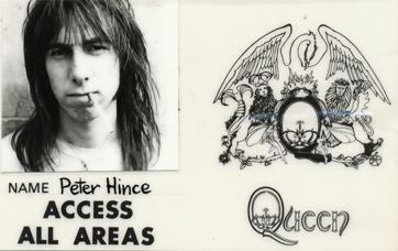 Peter Hince - Queen - A színfalak mögött