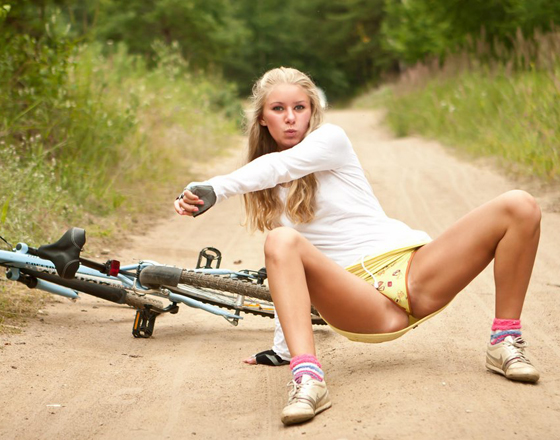 blonde bicycle girl rider bike babe 1.jpg
