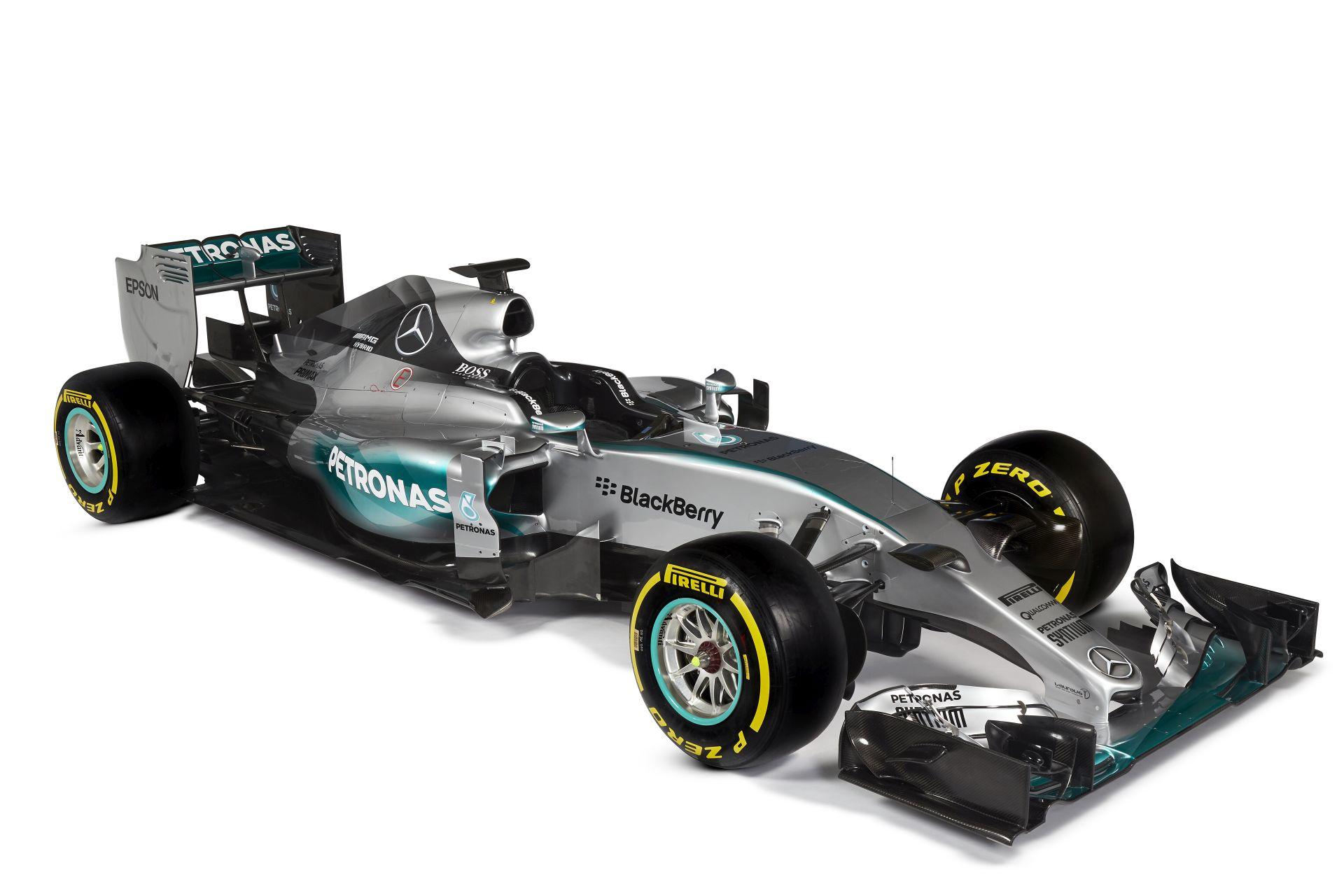 F1 - Hivatalos stúdióképeken a Mercedes 2015-ös autója