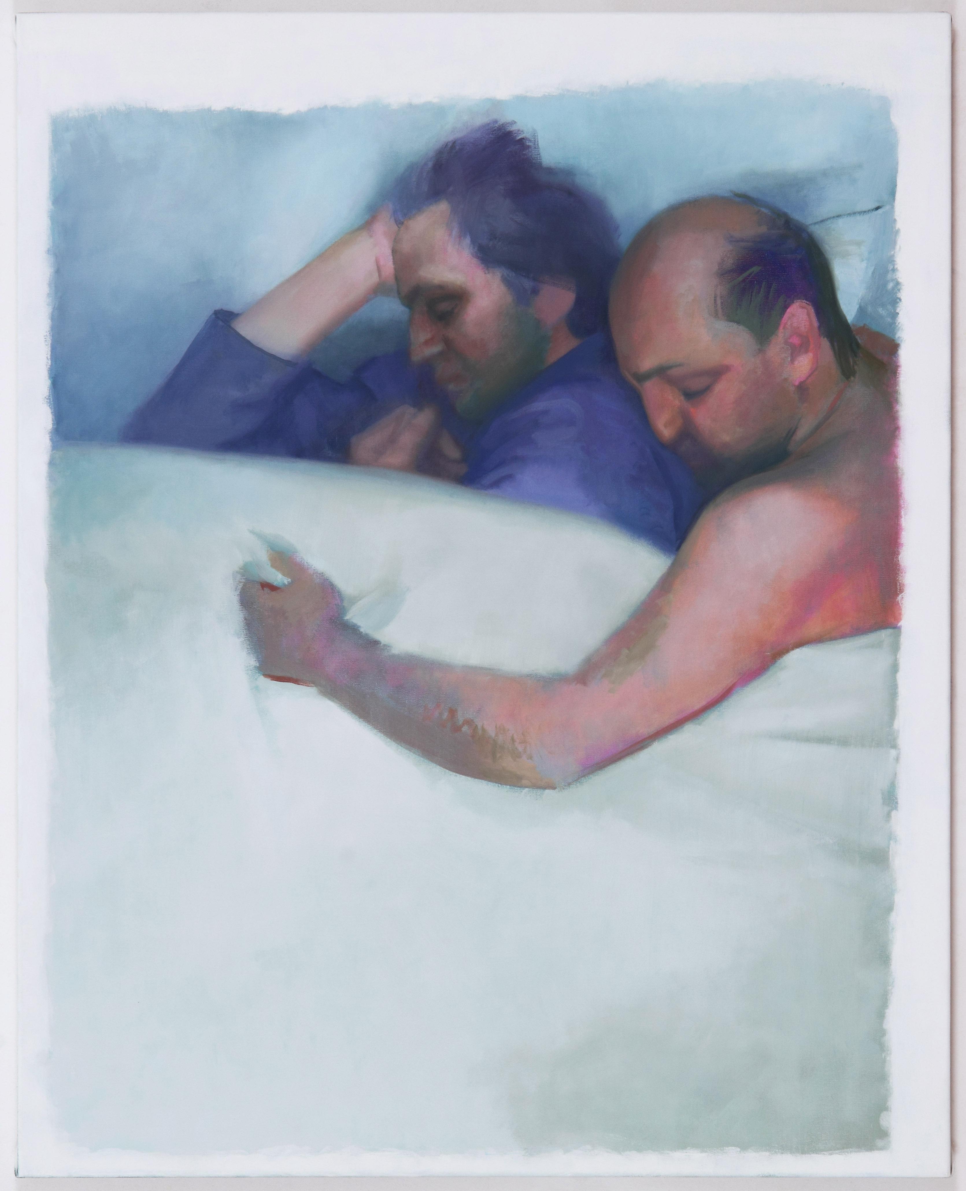 Der Heilige Camillus und der Heilige Goar, 2013, olaj, vászon, 100x80cm