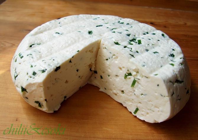 Medvehagymás sajt.JPG