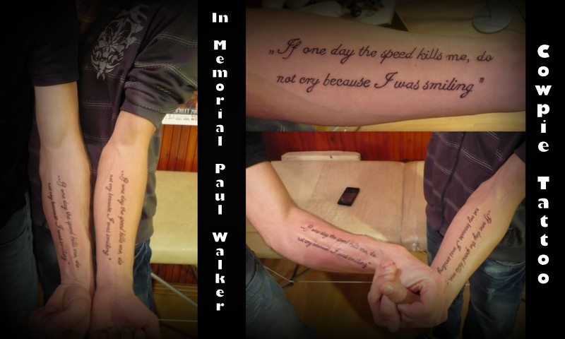 What Is Paul Walkers Tattoo