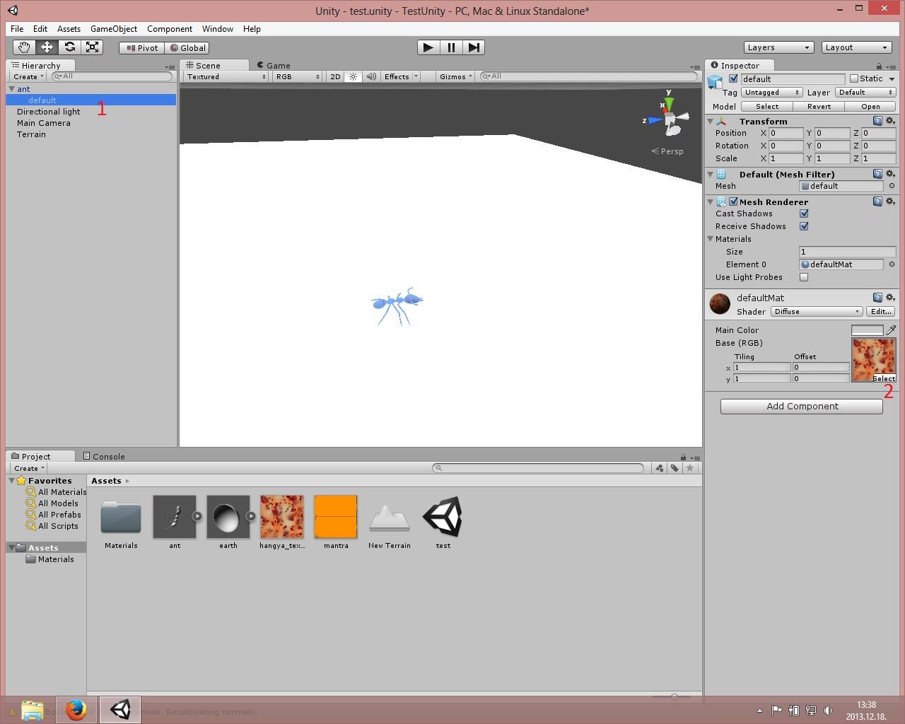 Unity scene editor