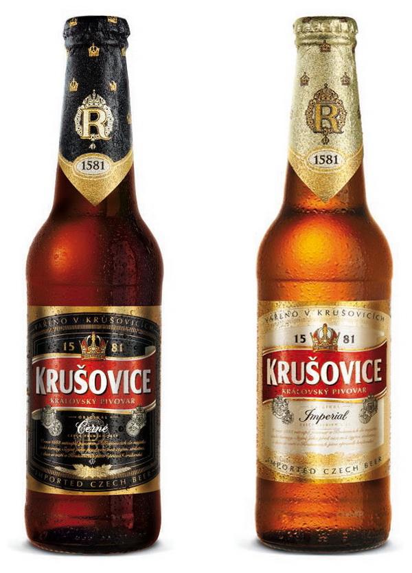 Az osztrák korona a Krusovice sör emblémájában