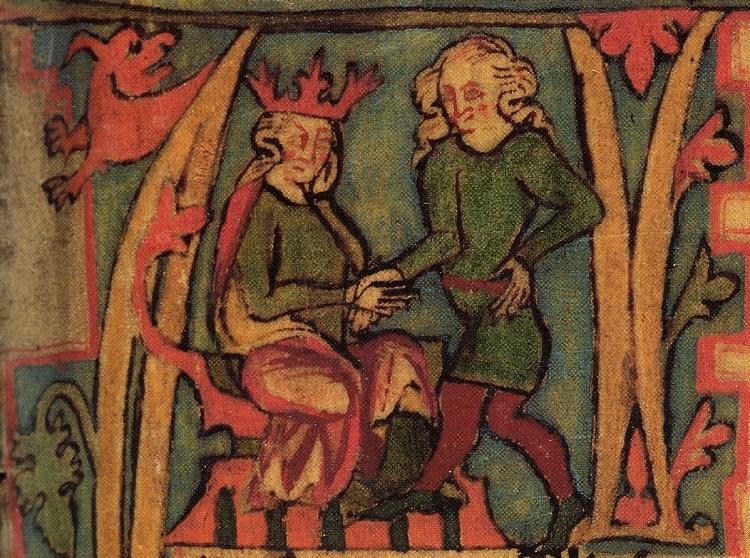 I. Széphajú HArald átveszi a királyságot apja kezéből
