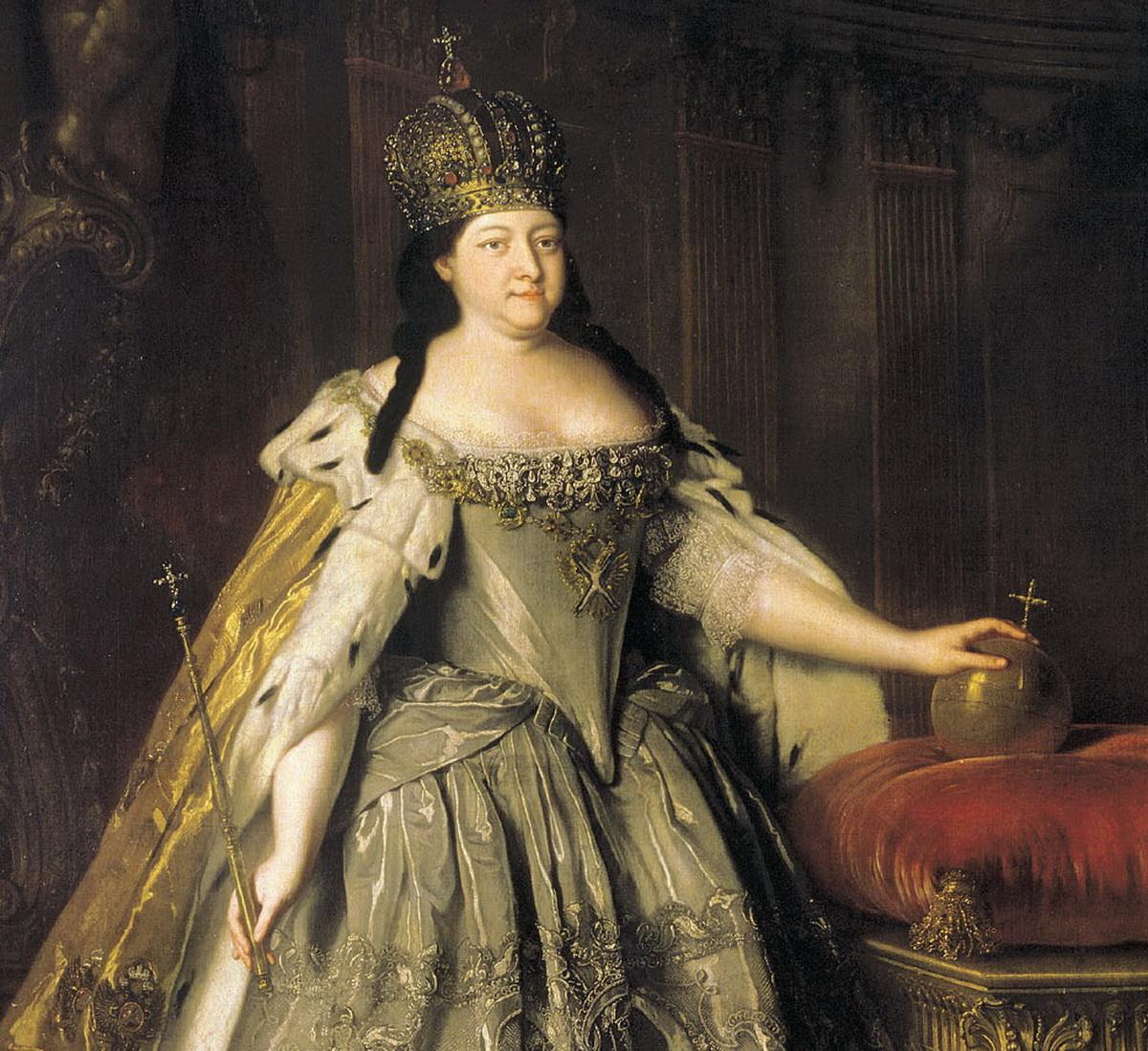 Anna cárnő a lengyel koronával
