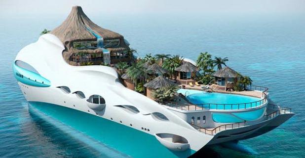 Úszó Trópusi Luxus Sziget - Design To Go