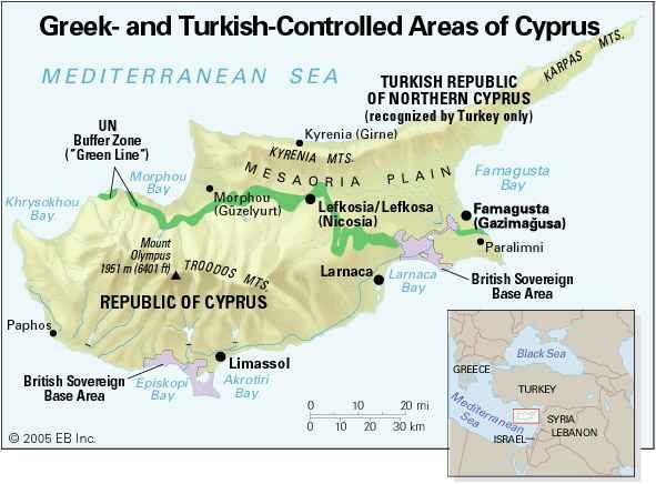 Ciprus térkép