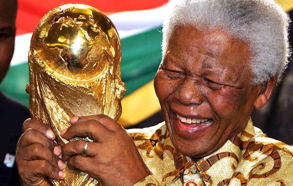 Mandela a világkupával
