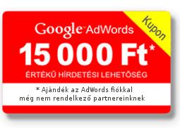 Google Adwords kupon ajándékba