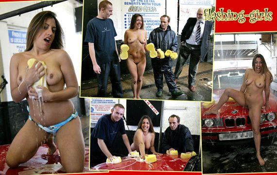 Nude Girls Working On Cars