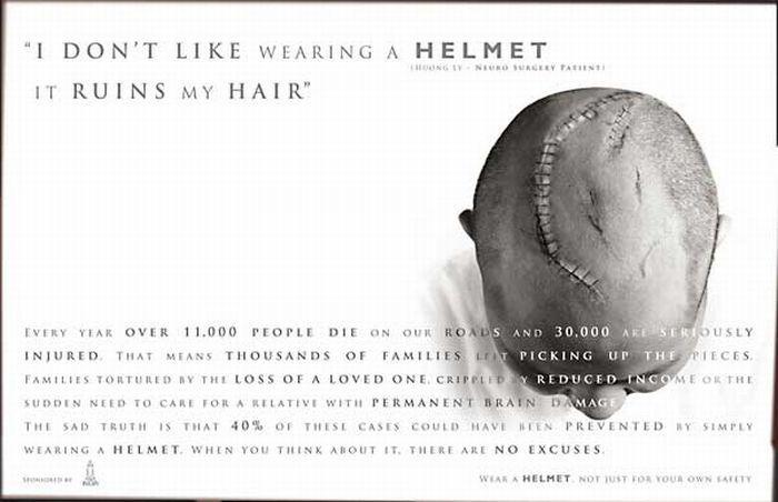 Nem hordok sisakot, mert tönkremegy a frizurám.