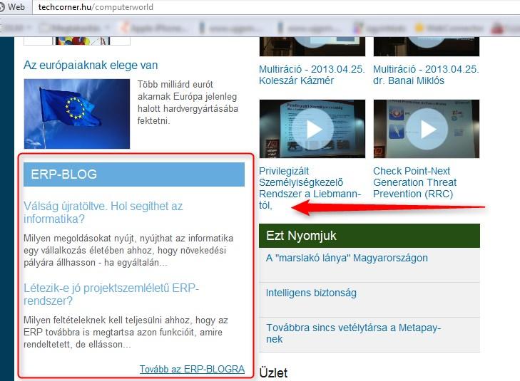 Szolgálati közlemény: Computerworld együttműködés 2.