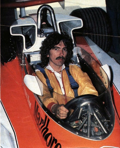 George Harrison Getting Some Driving Instructions : Formula1