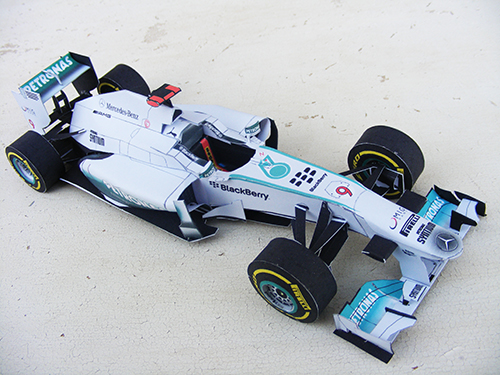 f1 paper Mercedes/epson has a template of their f1 car which you can print out and construct into a paper craft version lewis hamilton template.