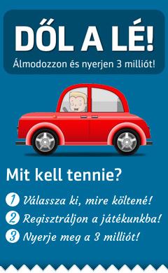 Melyik autót venné meg 3 millió forintból, ha Ön nyerné?