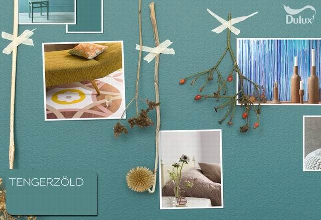 Egy ragyogó szín az otthonunkban: tengerzöld, a 2014-es Év színe