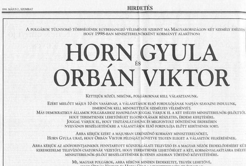 Horn_Gyula_Orban_Viktor_miniszterelnök_jelolti_vita_tevevita_1998_Fidesz_hirdetes.png