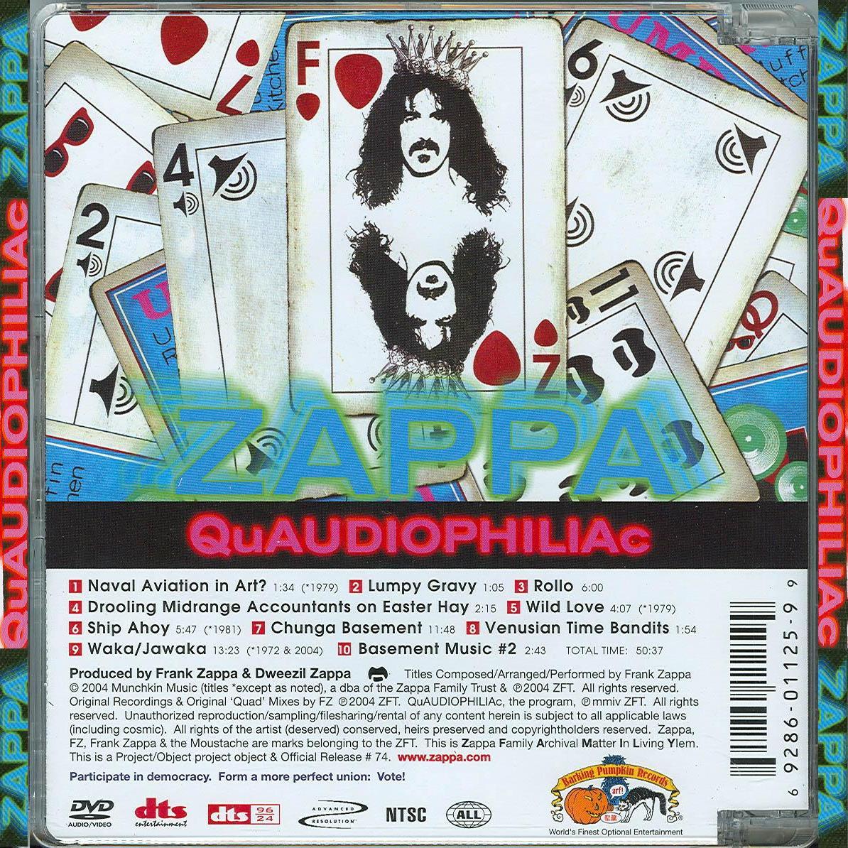 Frank Zappa - QuAUDIOPHILIAc - Back.jpg