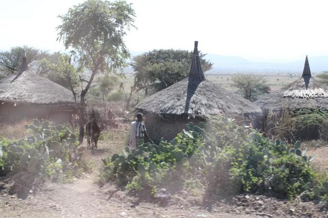 Etióp falu az út mellett.jpg