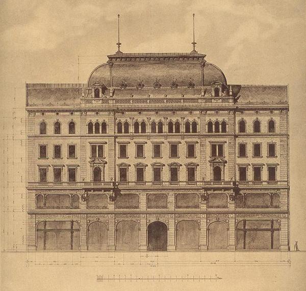 9 Hadik Barkóczy ház homlokzat tervrajz 1894 Karoly-krt-9.jpg