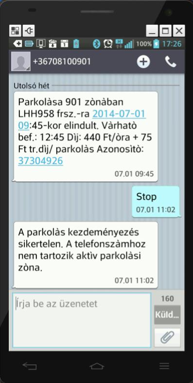 A 810-es számra küldött sms
