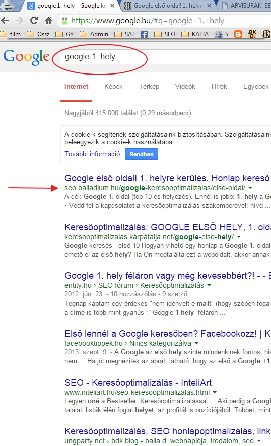 google-elso-hely