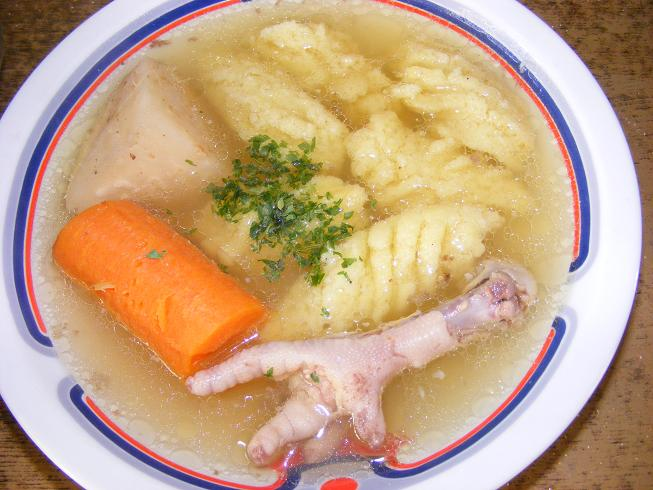 csirkeláb leves