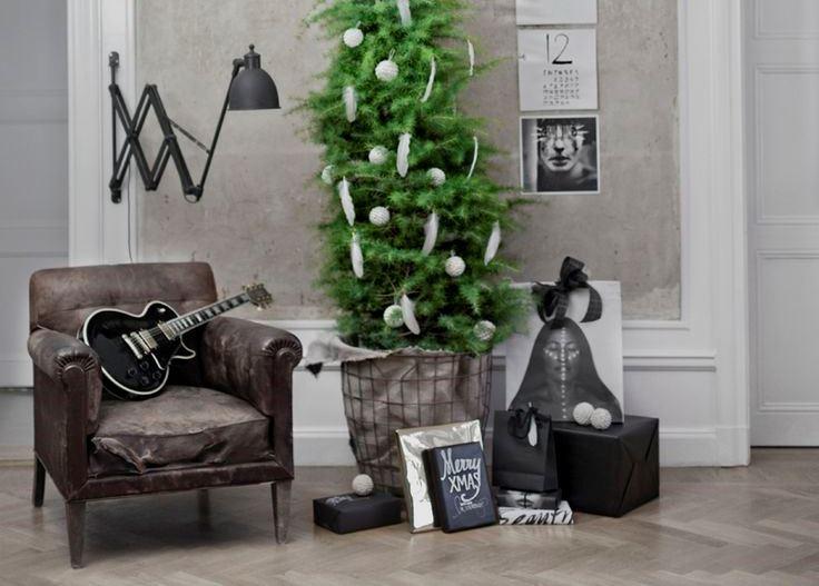 Letisztult karácsonyi dekor ipari stílusban