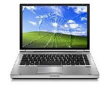 Betört, törött laptop notebook kijelző csere, LCD cseréje