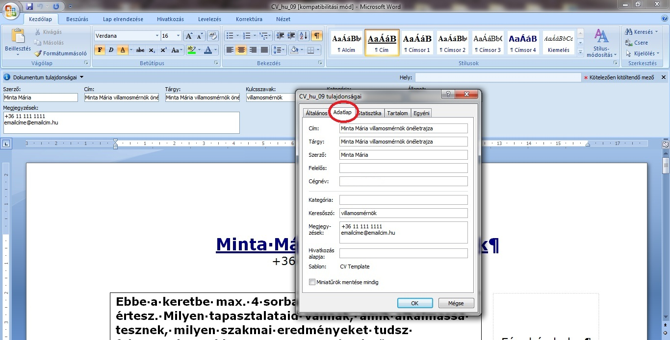 önéletrajz minta wordben HRBLOG.hu   JobAngel blog   A veszélyes fájl adatlap önéletrajz minta wordben