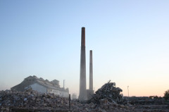 A felrobbantott szerencsi cukorgyár