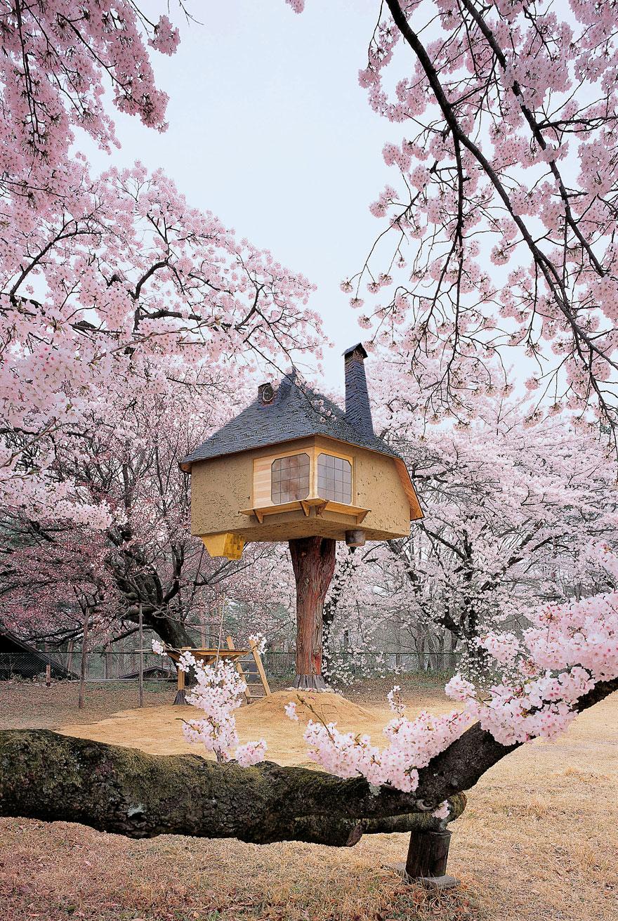 Teahouse Tetsu (Yamanashi, Japan)<br />Tündérmeséket idéző lombház Japánban, Terunobu Fujimori építész alkotása